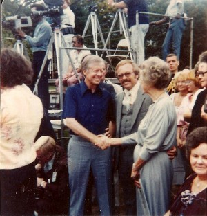 President Jimmy Carter, Bob & Goldie Brumley at the White House.